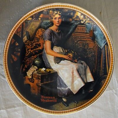 Norman Rockwell DREAMING IN THE ATTIC Collector Plate #1800Z  Knowles Fine China