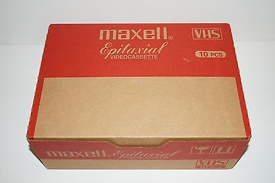 (x10) Maxell Epitaxial Professional Industrial P/I Plus T-120 Blank VHS Tapes