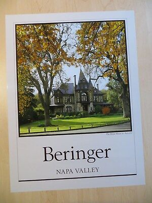 Napa Valley Beringer Winery Rhine House Poster Autumn - Discontinued & Rare