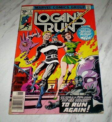 Logan's Run #6 Low-Grade Unrestored 1977 Marvel 1st solo Thanos story