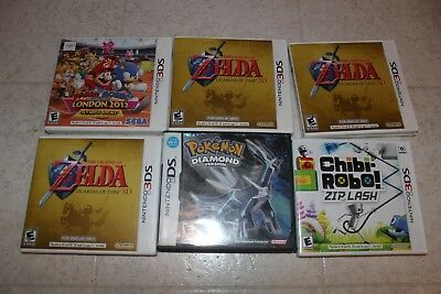 Empty Case Lot of 6 for Nintendo 3DS Zelda Ocarina of Time For Display Only