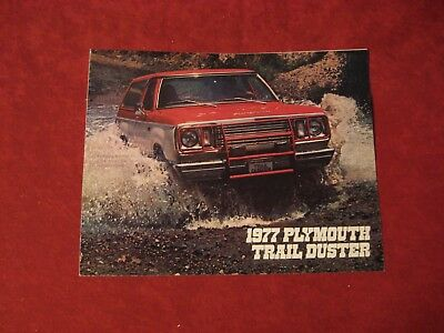 1977 Plymouth Trail Duster Salesman Dealership Brochure Booklet Catalog Old