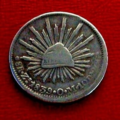 1839-Zs Mexico 8 Reales Silver Foregin Coin