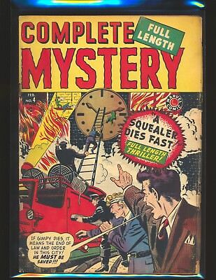 Complete Mystery # 4 - A Squealer Dies Fast Good Cond. cover detached