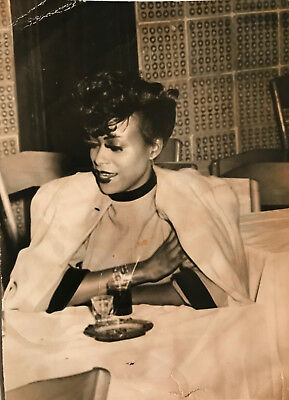 1950's Sexy African American Dancer Relaxing at Nightclub
