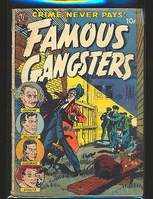 Famous Gangsters # 1 - Capone & Dillinger Fair Cond. cover detached