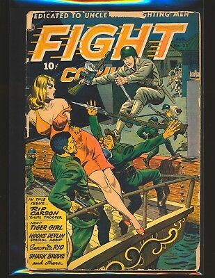 Fight Comics # 33 Poor Cond. cover detached & mostly split