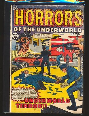 Horrors Of The Underworld # 14 - L.B. Cole cover Good Cond. water damage