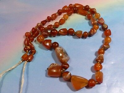 Beautiful Ancient Patinized Agate Beads Asia Minor Western Asia Coll. Strand