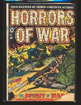 Horrors Of War # 11 - Disbrow art Fair L.B. Cole cover Cond. tape on cover