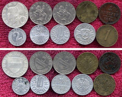 10 Coins from Austria