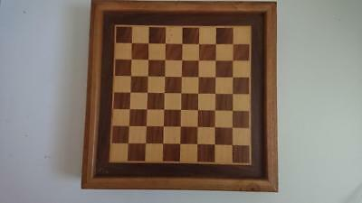 Wooden Chess Backgammon Board with Chess Pieces