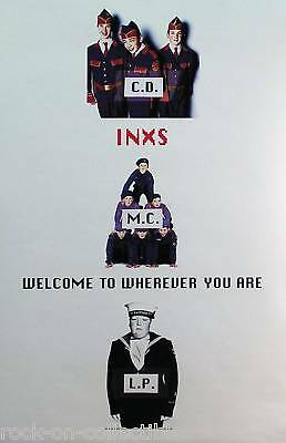 Inxs 1992 Welcome To Wherever You Are Uk Promo Poster Original