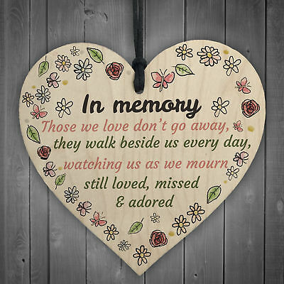 Memory Is A Lovely Lane Wooden Hanging Heart Memorial Plaque Heaven Love Sign Plaques & Signs