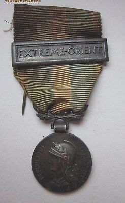 "Frankreich, Medaille ""Coloniale"" mit Spange ""Extreme Orient"" , Silber"