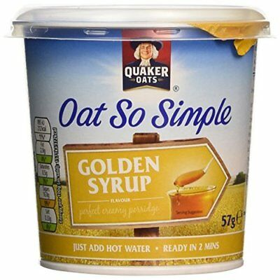 Quaker Oat So Simple Express Pot Golden Syrup Porridge, 57 g (Pack of 8)