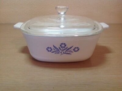 Corning Ware Cornflower Blue  1-1/2 Quart Square Casserole With Glass Lid