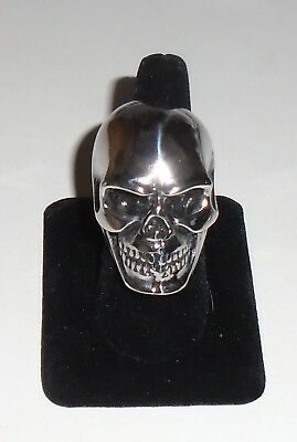 SKULL RING Biker Metal Punk Rock HUGE Stainless Steel Size 11 NEW
