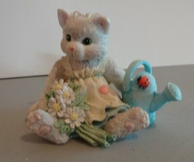 "Calico Kittens ""Planting The Seeds Of Friendship"" Enesco 623547 1993"