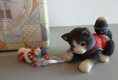 "Calico Kittens ""Sock Full Of Love"" Enesco 360090 1998"