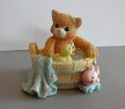 "Calico Kittens ""Our Friendship Is Squeaky Clean"" Enesco 132713 1995"
