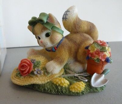 "Calico Kittens ""The Earth Blossoms For You"" Enesco 720674 2000"