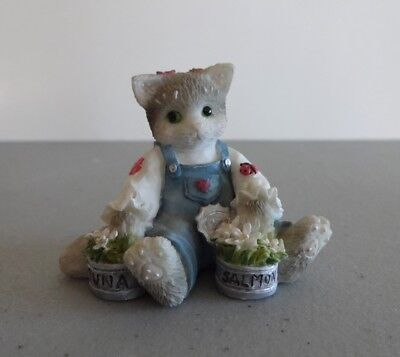 "Calico Kittens Mini ""Spring Ladybug/Flowers"" Enesco 204048 1996"