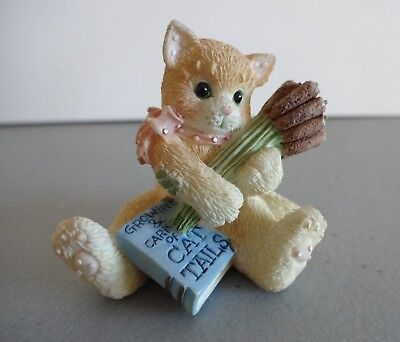 "Calico Kittens Mini ""Cat Tails"" Enesco 255106 1996"