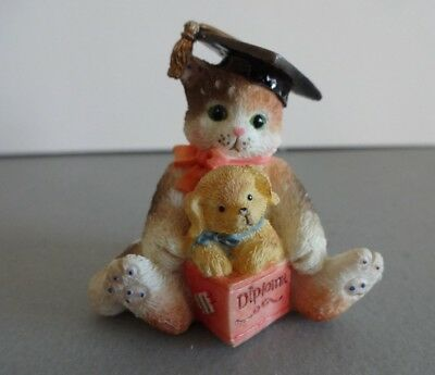 "Calico Kittens Mini ""Diploma"" Enesco 167347 1995"