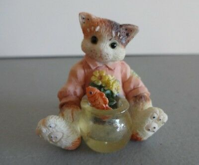 "Calico Kittens Mini ""Fish Bowl"" Enesco 204048 1996"