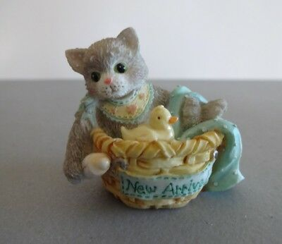 "Calico Kittens Mini ""New Arrival"" Enesco 167355 1995"