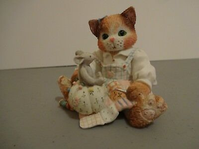 "Calico Kittens ""Your Patchwork Charm Shows Through"" Enesco 129453 1994"