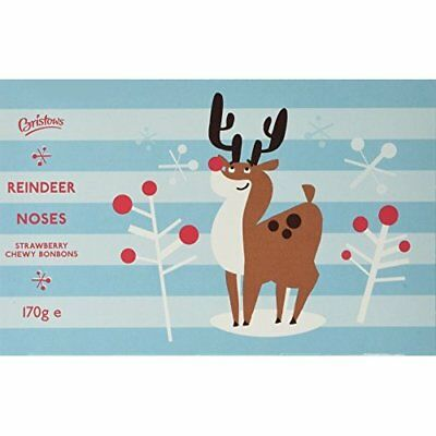 Crediton Confectionery Bristows Christmas Reindeer Noses Chewy Strawberry Bonbon
