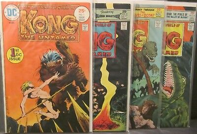 4 Issues Kong The Untamed DC Bronze Age Comic Book 1975 1 2 3 4 Bernie Wrightson