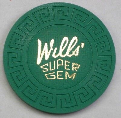 Bc Wills Large Key Manufacturers Sample - Casino Poker Chip Mint Condition