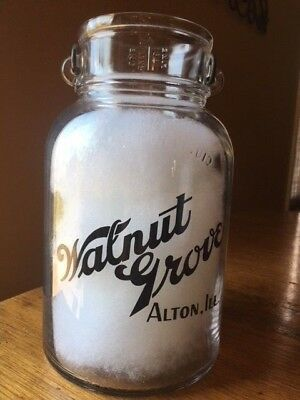 WALNUT GROVE PYRO GALLON Milk Bottle ALTON, ILLINOIS