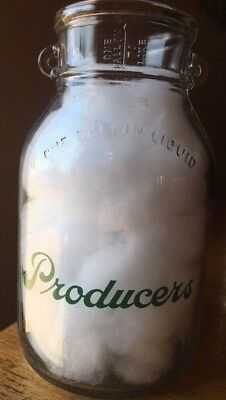 PRODUCERS PYRO GALLON Milk Bottle JACKSONVILLE, ILLINOIS