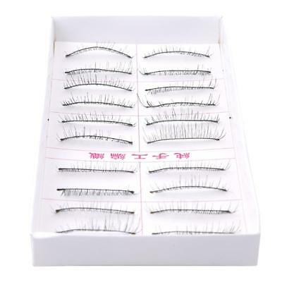 10Pairs Long Natural Thick Handmade Fiber Fake False Eyelashes Eye Lashes HOT Z