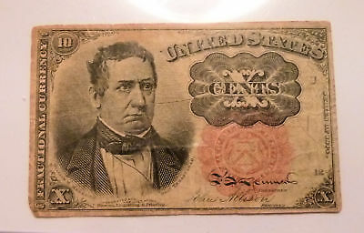 Fractional Currency United States Civil War Era 10 Cent Note