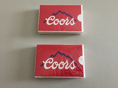 Lot of 2 Decks - Coors collectable playing cards - Sealed