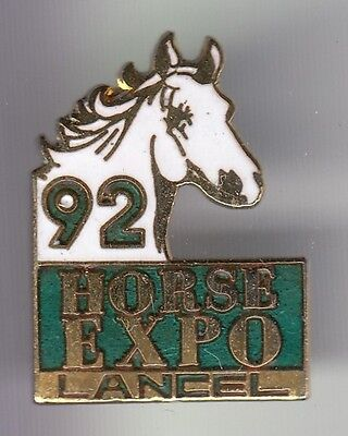 Rare Pins Pin's .. Beaute Parfum Mode Luxe Lancel Sellier Cheval Horse Expo  ~C8
