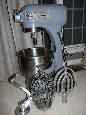 Hobart A200 20 Quart Commercial Bakery Mixer Stainless Steel + 3 Attachments NSF