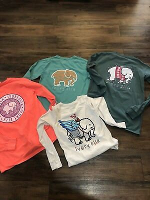 Lot of four Ivory Ella Long Sleeve Tee Shirts Size (S) Small