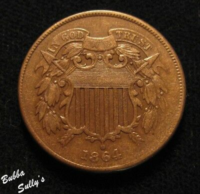 1864 Two Cent Piece <> EXTREMELY FINE