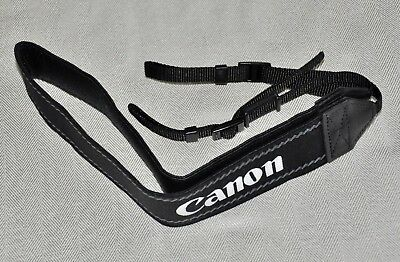 CANON BLACK/WHITE W 39mm GENUINE SHOULDER NECK STRAP FOR DSLR EOS CAMERA NEW