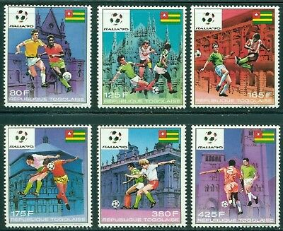 Togo Scott #1506-1511 MNH World Cup 1990 Italy Soccer CV$9+ CLEARANCE SALE