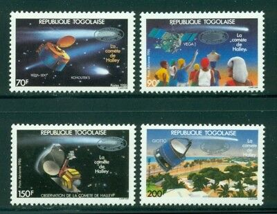 Togo Scott #1405-1408 MNH Spacecraft OVPT Halley's comet CV$11+ CLEARANCE SALE