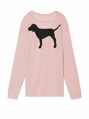 Nwt Victoria's Secret Pink Long Sleeve Campus Strappy Cutout Tee Pink Size Xs