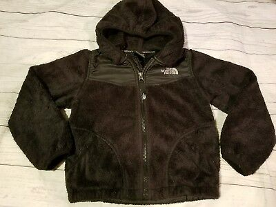 Toddler Girl or Boy North Face Jacket Coat Size XS 6 Black with hood.