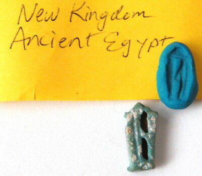 PHILIP MITRY ~ Ancient Faience Amulet THRONE Egyptian Ramesses 2500yo
